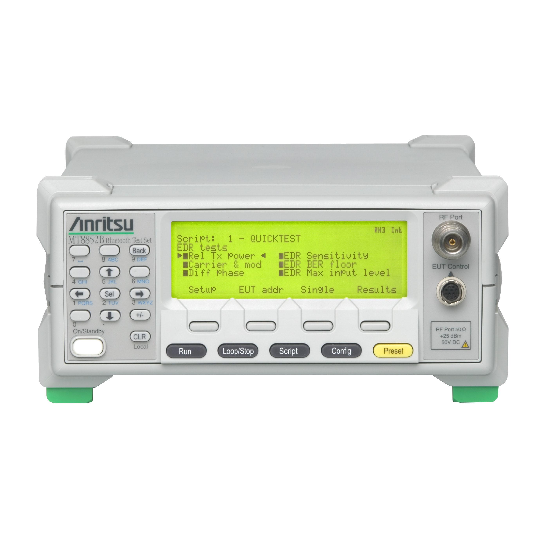 MT8852B/327,2300-259 Bluetoothテストセット